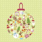 Flot julekugle kort