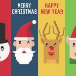 Snemand, julemand, rensdyr og nisse