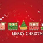 Send en hilsen med et juletog som motiv