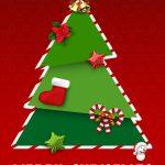 Juletræ siger glædelig jul