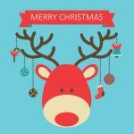 Julekort med Rudolf