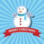 Snemand glædelig jul kort